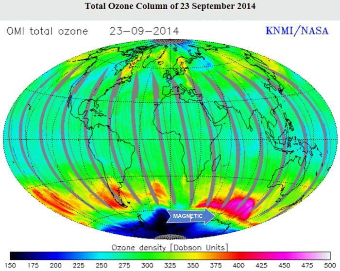 Global ozone map 2014