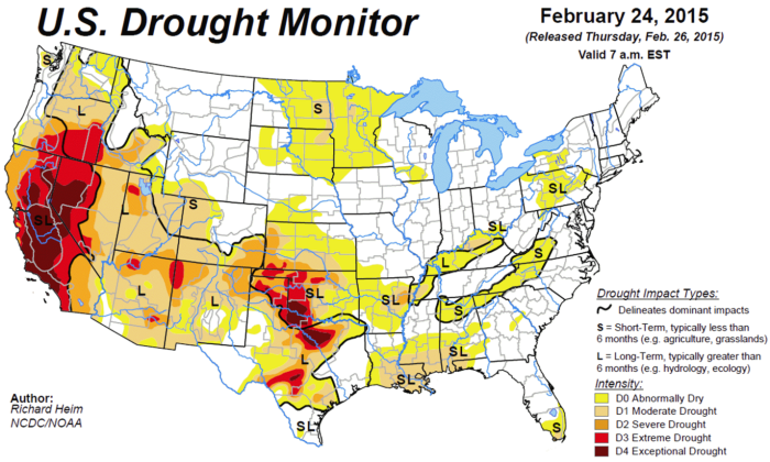 us drought chart 2015